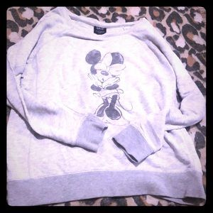 Disney Minnie Mouse gray sweater
